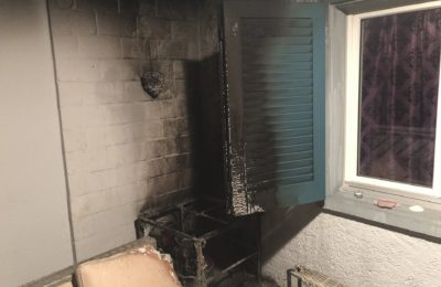 261. Brand auf Balkon, Otteregass 2