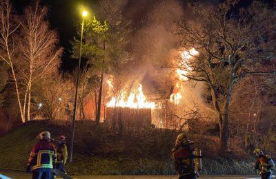 18.02.2021 Brand eines Einfamilienhauses