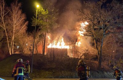 70. Gebäudebrand, Berghaldenweg 2
