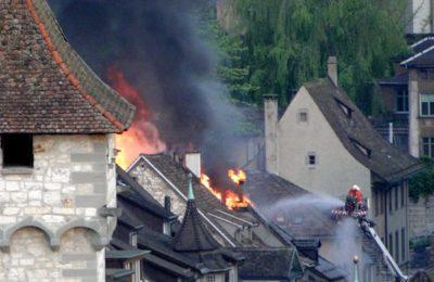 Grossbrand am frühen Morgen in der Altstadt