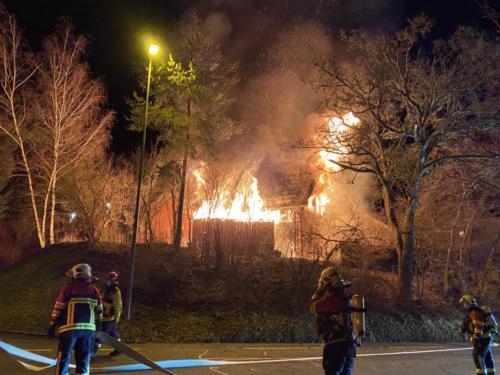 20210218 Schaffhausen Brand eines Einfamilienhauses Bild